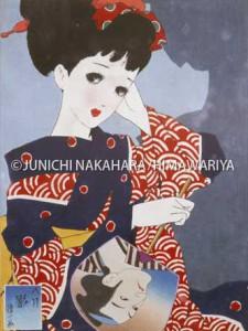 木版画『娘十二ヶ月〜八月・影』昭和15(1940)年頃